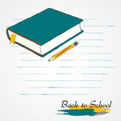Book and pencil — Stock Vector