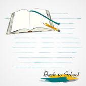 Öppnade boken — Stockvektor