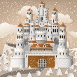 Fairytale castle in winter — Stock Vector #52163921