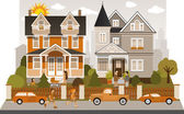 Victorian family house — Stock Vector