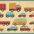 Simple cars collection — Stock Vector #56540327