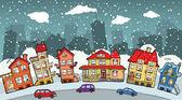 小さな漫画市 — ストックベクタ