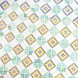 Detail of typical old Lisbon tiles, traditional decoration of Portugal — Stock Photo #78332170