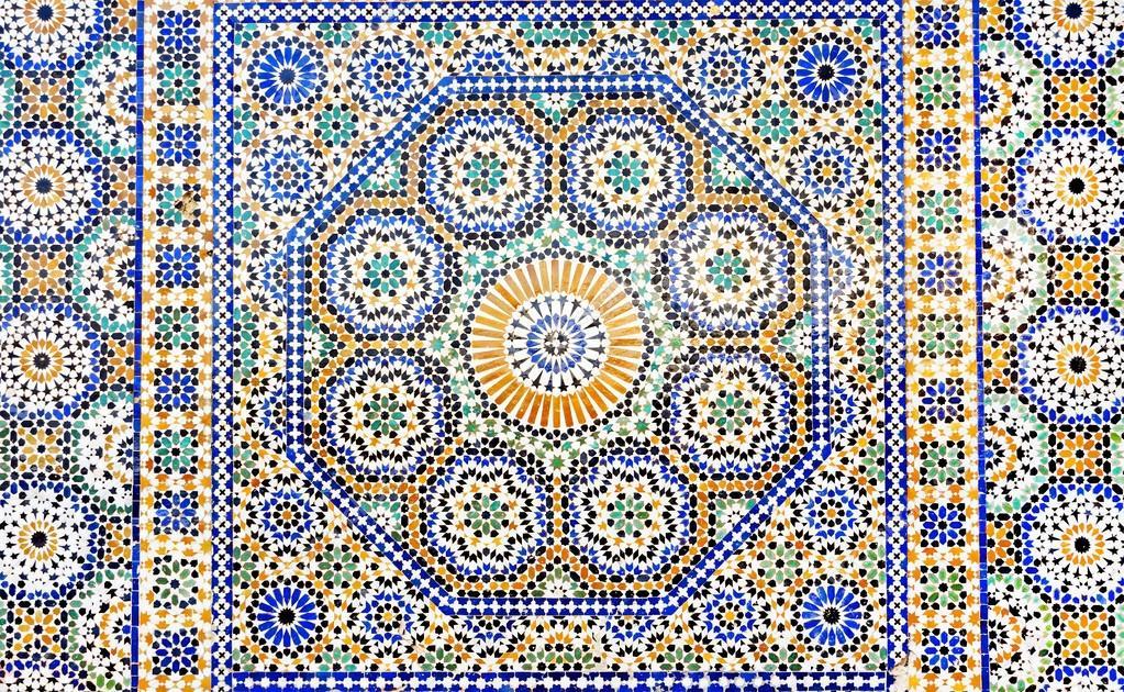 Imagen de una decoraci n de mosaico marroqu fotos de for Mosaico marroqui