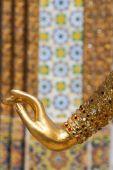 Golden angel's hand — Stock Photo