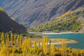 Beautiful view of autumn in Northern  Pakistan — Stock Photo