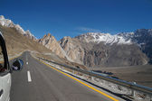 On  way from Pasu to Khunjerab Pass in Pakistan — Stock Photo