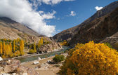 Beautiful Ghizer valley in Northern area of Pakistan — Stock Photo