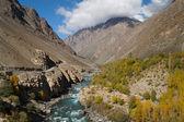 Phandar river in Northern Pakistan — Stock Photo
