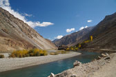 River and mountains in Ghizer Valley in Northern Pakistan — Stock Photo