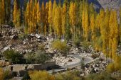 Beautiful Ghizer valley in Northern Pakistan — Stock Photo