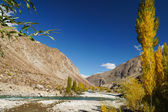 Mountain and small river near Phandar Valley , Northern Pakistan — Stock Photo