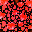 Red valentines background with hearts — Stock Photo #62921935