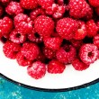 Fresh Red Ripe raspberries — Stock Photo #56530681