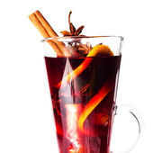 Red Hot Mulled Wine — Stock Photo