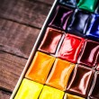 Colorful aquarelle paints — Stock Photo #58435211