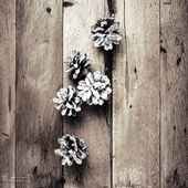 Christmas  decorations on wooden background. — Stock Photo