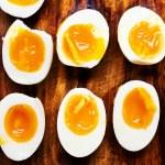 Halves of Hard boiled eggs — Stock Photo #62960497