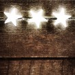 Sparkling Lights on blue background — Stock Photo #62960761