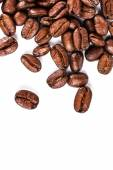 Brown coffee beans isolated — Stock Photo