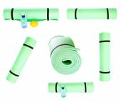 Set of Lightweight foam Yoga Mat rolls isolated — ストック写真