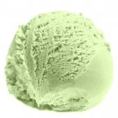 Scoop of Mango  ice cream — Foto Stock