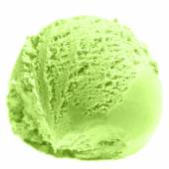 Czerpak lody pistacjowe — Zdjęcie stockowe