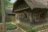 Ancestor fragment of a wooden house — Stock Photo