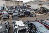 Many car wrecks — Stock Photo
