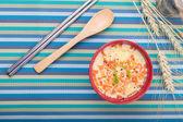 Steamed Egg with shrimp — Stock Photo