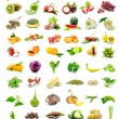 Collection of fresh fruits and vegetables — Stock Photo #70622987
