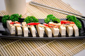 Silken tofu with gochujang and sesame oil  — Stock Photo