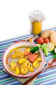 Yellow Curry with Fish — Stock Photo