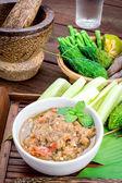 Thai cuisine nam prik — Stock Photo