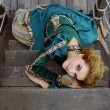 Girl lying on the stairs — Stock Photo #54755657