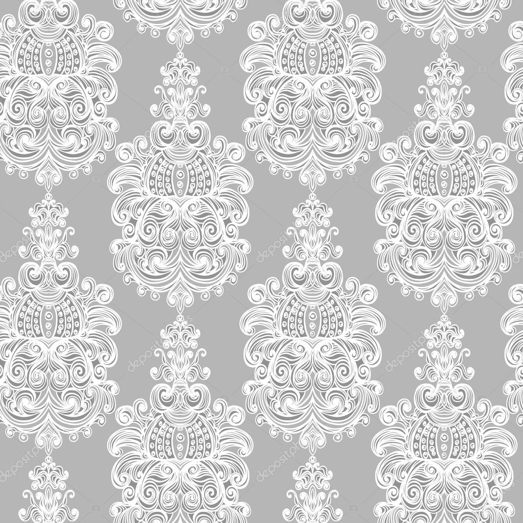 seamless vintage baroque background � stock vector