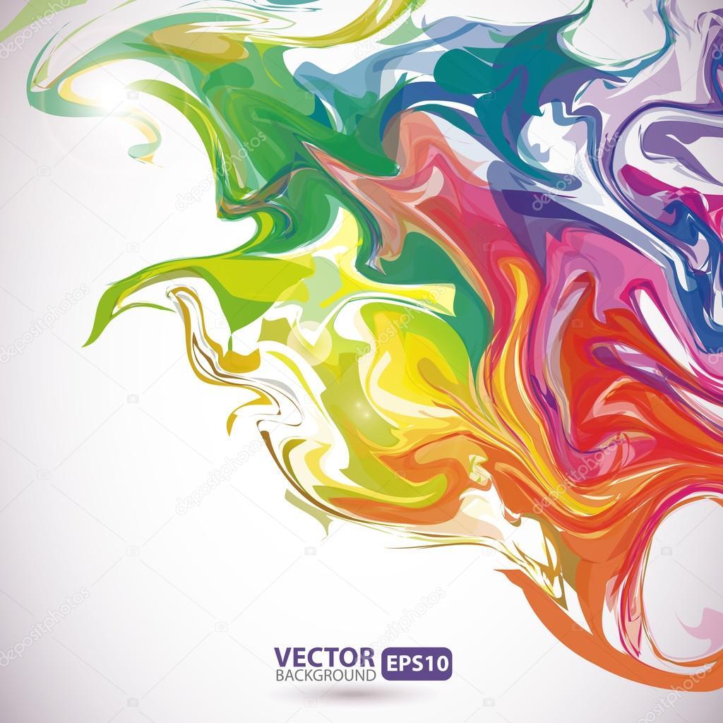 Manchas de colores de pintura abstracta de fondo archivo - Colores en pintura ...