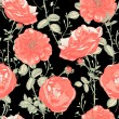 Vintage Seamless Romantic Roses Background — Vecteur #53496979
