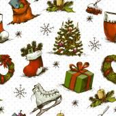 圣诞无缝背景 — 图库矢量图片