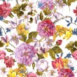 Floral Vintage Seamless Watercolor Background — Stock Photo #68406515