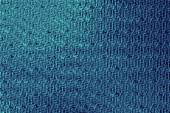 Illuminated cross curved stripes - bondi blue colors sawtooth notch. — Stock Photo