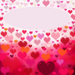 Red hearts background — Stock Photo #63925983