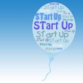 Start up balloon — Stock Photo