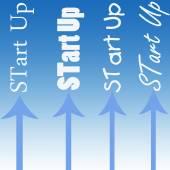 Start Up иллюстрации со стрелками — Стоковое фото