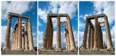 Columns in olympieion athens — Stock Photo