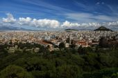 Athens greece panoramic view from acropolis. — Stock Photo