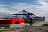 Warehouse on the port — Stockfoto