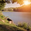 Lake of the woods at sunset — Stock Photo #68683827