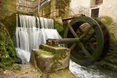 Old watermill view outdoors — Stock Photo