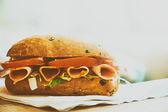 Delecious tasty sandwich — Stock Photo